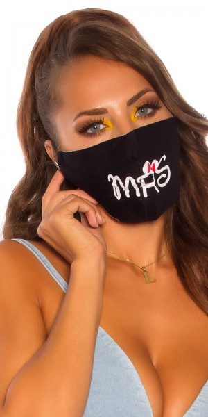 "Trendy Alltags/Stoffmaske ""Mrs"""