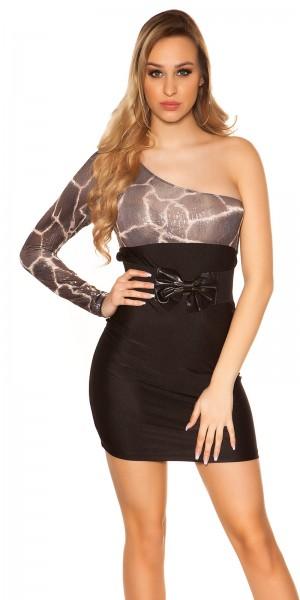 Sexy One-Arm-Kleid mit Schleife