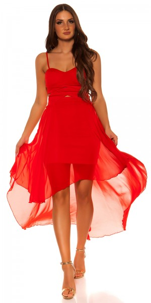 Sexy Kou Cla Highlow Trägerkleid mit sexy Einblick