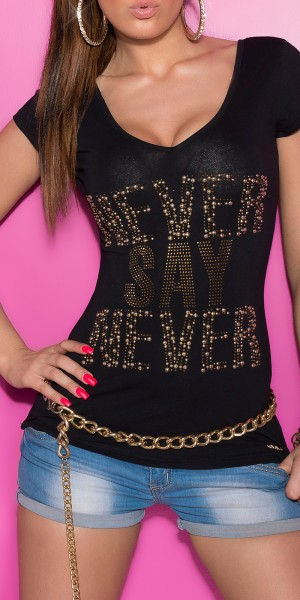 "Sexy KouCla T-Shirt ""Never say Never"""