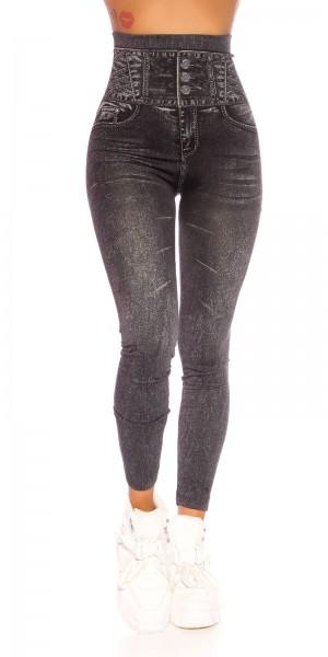 Trendy Highwaist Jeanslook Leggings