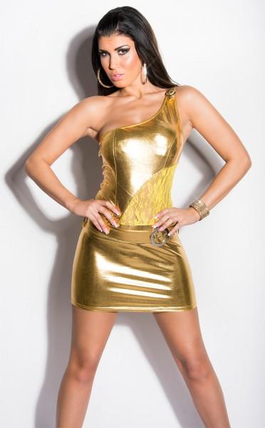 Sexy KouCla GoGo-Minikleid mit Gürtel