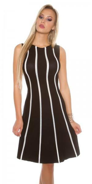 Sexy KouCla feinstrick Kleid gestreift