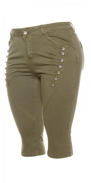 Curvy Girls Size! Trendy Capri Jeans Knielang