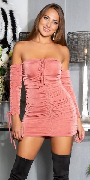 Sexy Koucla Off-Shoulder Kleid Gerafft