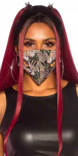 Trendy Alltags/Stoffmaske mit Print
