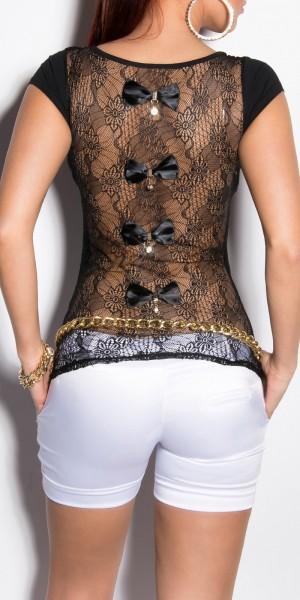 Sexy KouCla Shirt rückenfrei mit Schleifen