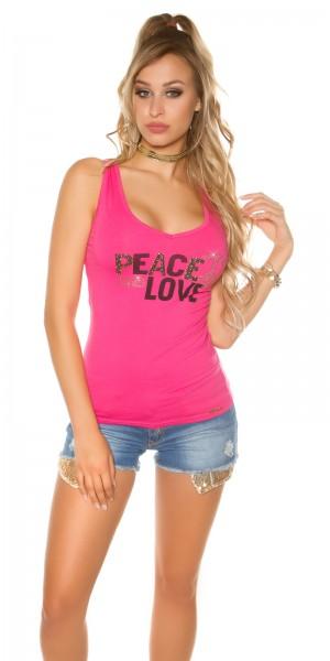 Trendy KouCla Tanktop Peace and Love