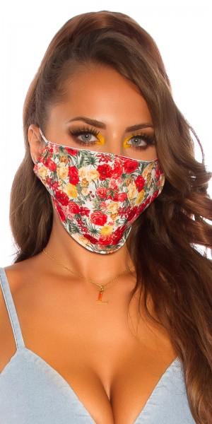 5 Stück Alltags/Stoffmaske mit Blumenprint
