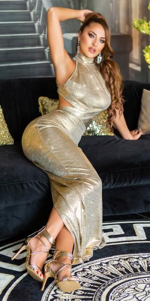 Sexy Koucla Rückenfreies Maxikleid GOLD