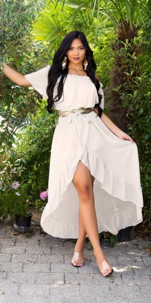 Sexy Off-Shoulder Maxikleid Goddess-Look