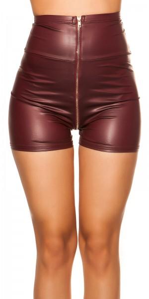 Sexy KouCla High Waist Wetlook Shorts