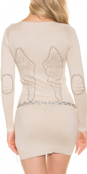 Sexy Feinstrick-Minikleid mit Angel Wings