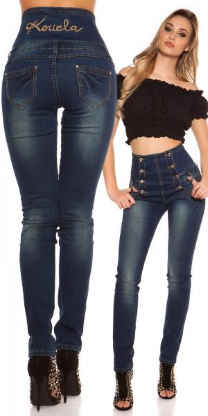 Sexy KouCla highwaist Jeans mit lightwash