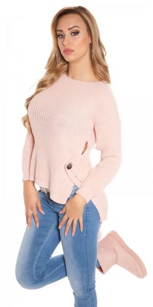 Trendy Koucla-High/Low-Pullover Rundhals