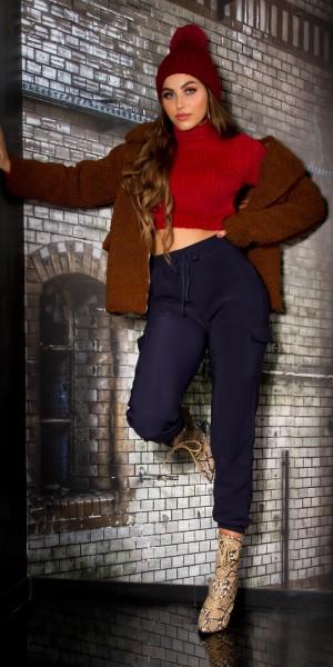 Trendy Cargo Hose mit Kordel/Thermo