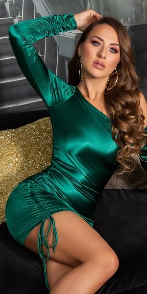 Sexy Koucla Satin-Look One-Shoulder Minikleid