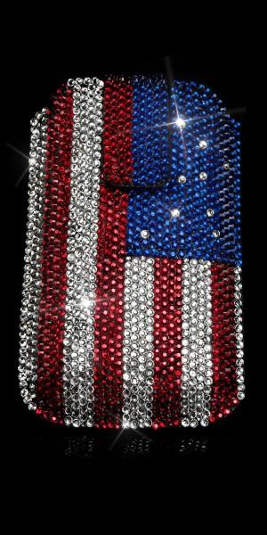 Glamour Handybag m. US Flag