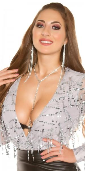 Sexy Y- Halskette mit Strass