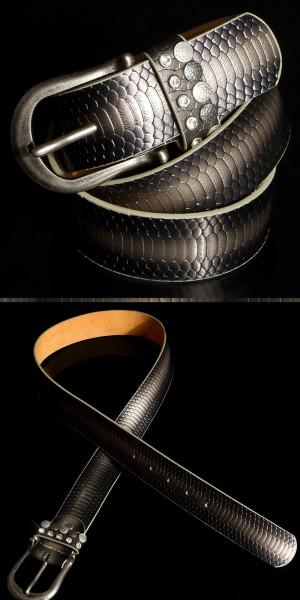 Trendy Gürtel Reptiloptik