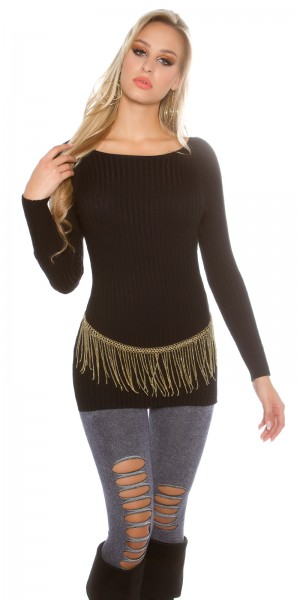 Trendy KouCla High Low Ripp Pulli