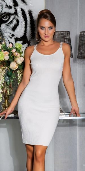Sexy Strickkleid mit Dekorativen Trägern