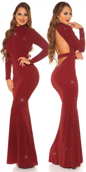 Sexy Red-Carpet Koucla Kleid m. WOW! Rückenansicht
