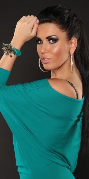 Trendy Armband mit Perlen und Ketten