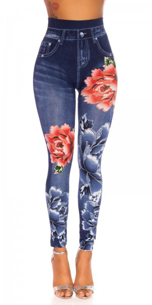 Sexy Highwaist Jeanslook Leggings