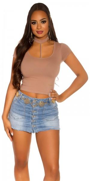 Sexy KouCla Basic Crop Shirt