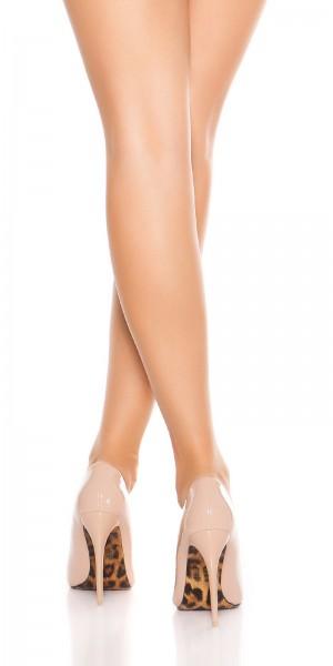 Sexy High Heels mit Leo-Sohle