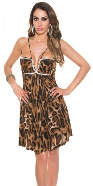 Sexy Babydoll-Kleid mit XL-Strass-Snake