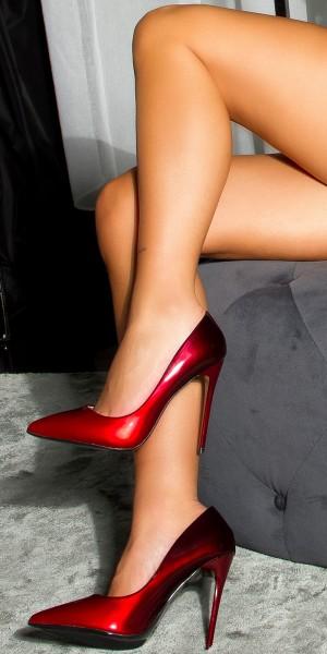 Sexy High Heel Pumps Bi-Color