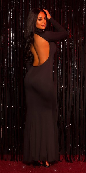 Sexy KouCla Turtleneck Kleid mit WOW Rücken