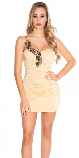 Sexy Disco-Kleid mit Kettenträgern im Snakelook