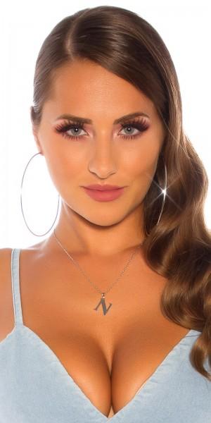 Sexy Buchstaben Halskette  N