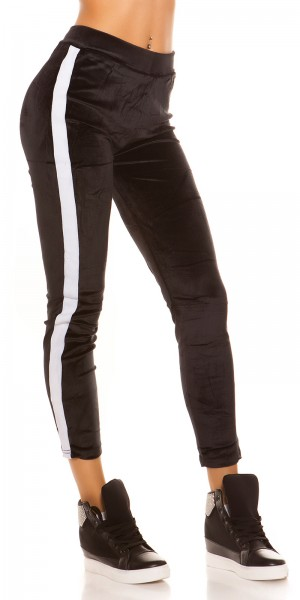 Trendy Nickileggings mit Kontraststreifen