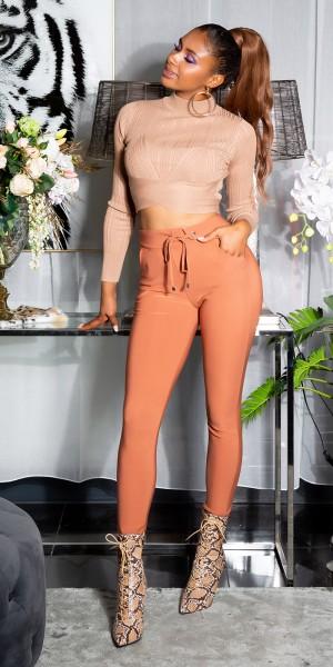 Sexy Sporty Hose mit Taillen Detail