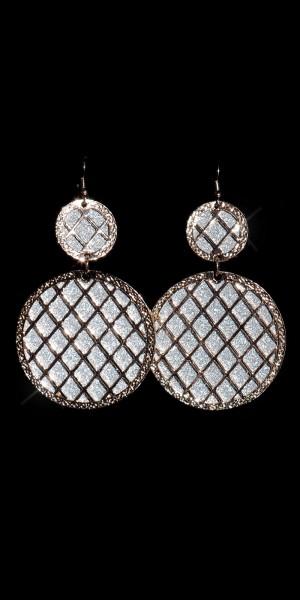 Elegante Glitter Ohrringe mit Rautenmuster