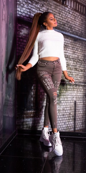 Sexy Skinny  LOVE YOURSELF  Jeans