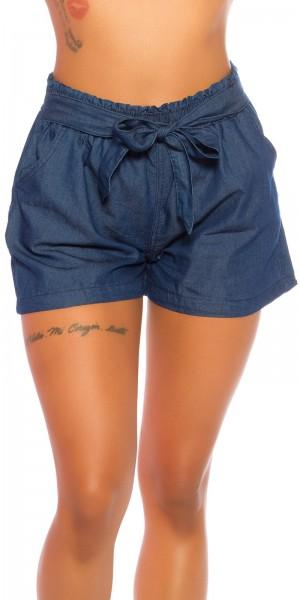 Sexy Highwaist Shorts Jeanslook mit Gürtel