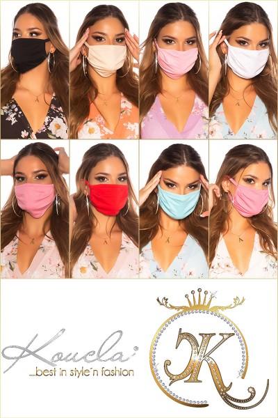 8 Stück Trendy FARBMIX Mund und Nasenschutz
