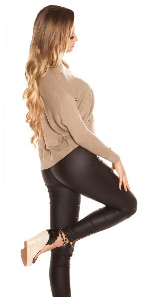 Sexy KouCla Pullover mit trendy Ösen