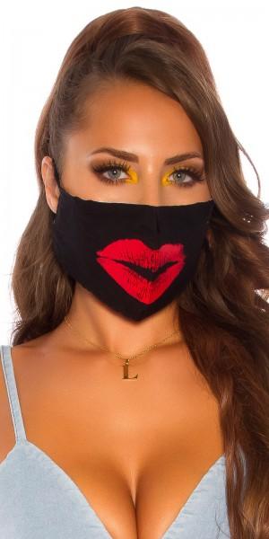 "Trendy Alltags/Stoffmaske ""kiss"""