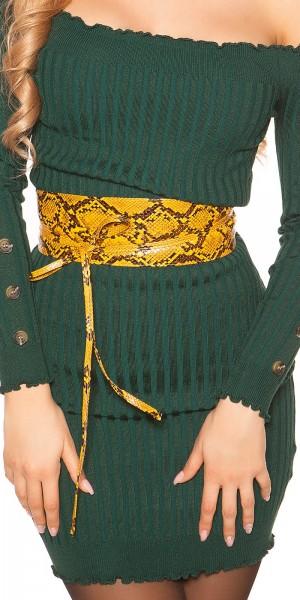 Trendy Taillengürtel Reptilprint zum Binden