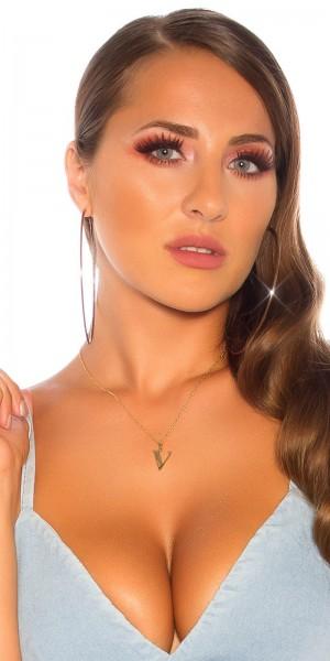 Sexy Buchstaben Halskette  V