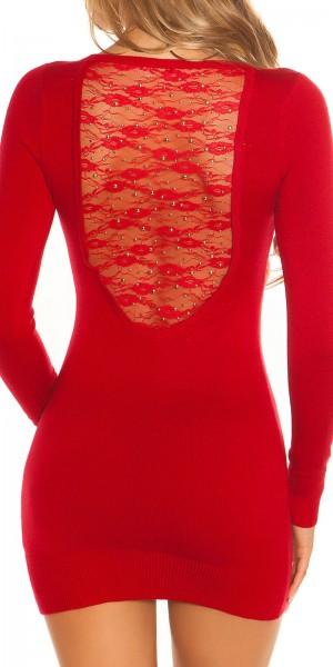 Sexy KouCla Longpulli/Kleid mit Spitze und Nieten