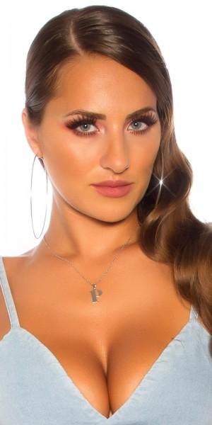 Sexy Buchstaben Halskette  P