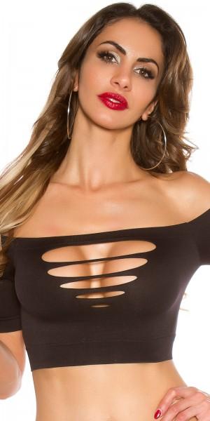 Sexy KouCla Crop Shirt mit Cut Outs