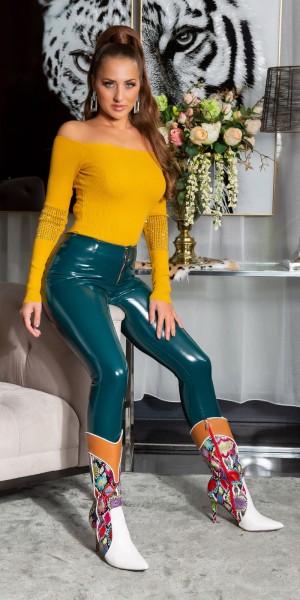 Sexy latex Look Skinny Hose